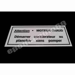 Stickers Pare Brise : autocollant sticker moteur chaud pour pare brise epoqueauto69 ~ Medecine-chirurgie-esthetiques.com Avis de Voitures