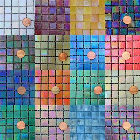 fantastix iridescent glass mosaic tiles 15mm