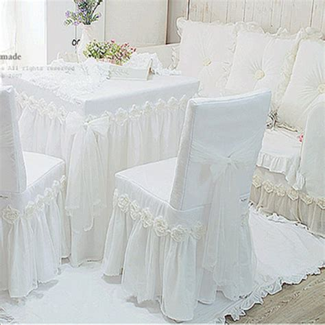 housse de chaise mariage tissu 1piece white princess lace tablecloth for wedding