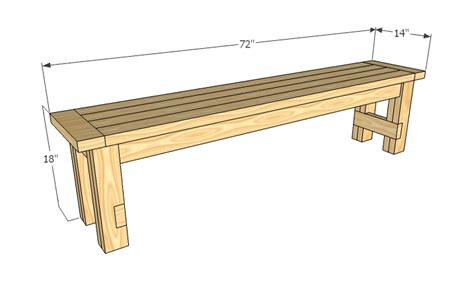 kitchen table bench plans free ana white farmhouse bench diy projects