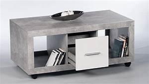 Couchtisch Weiß Grau : couchtisch stone beton optik grau und wei mit 2 schubk sten 115x60 cm ~ Whattoseeinmadrid.com Haus und Dekorationen