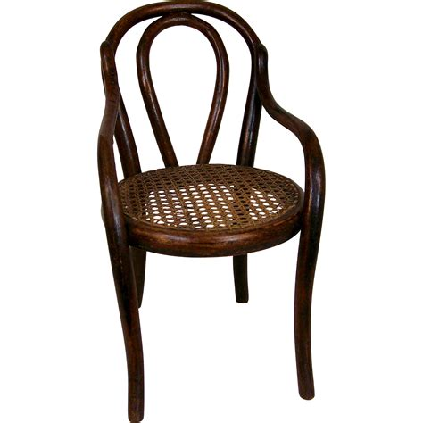 antique thonet style bentwood doll s chair from deesdolls