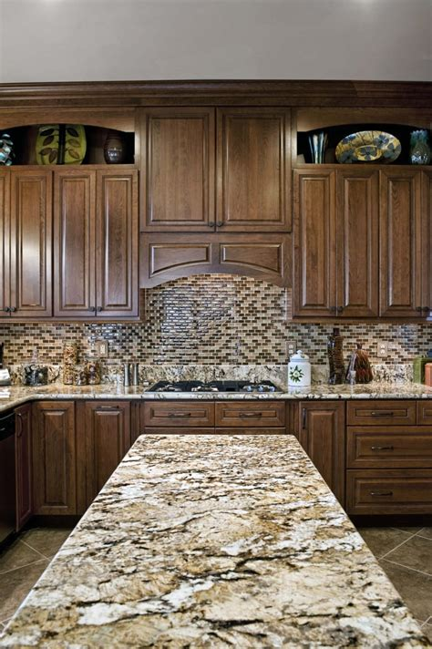 Granite Backsplash by Installing Brown Granite Countertop For Your Home