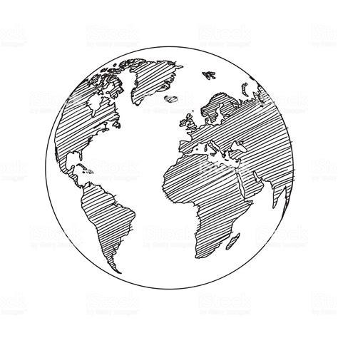 world map globe sketch vector stock vector art