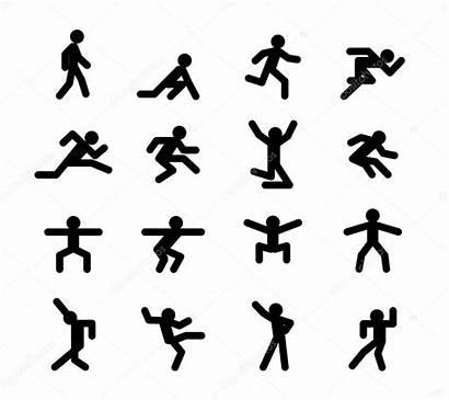 Poses Walking Running Action Jumping Squatting Illustration