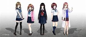 Original, Characters, Anime, Anime, Girls, School, Uniform, Wallpapers, Hd, Desktop, And, Mobile