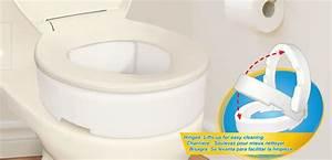 Rehausseur Toilette Adulte : rehausseurs pour toilette avec charni re par aquasense ~ Farleysfitness.com Idées de Décoration