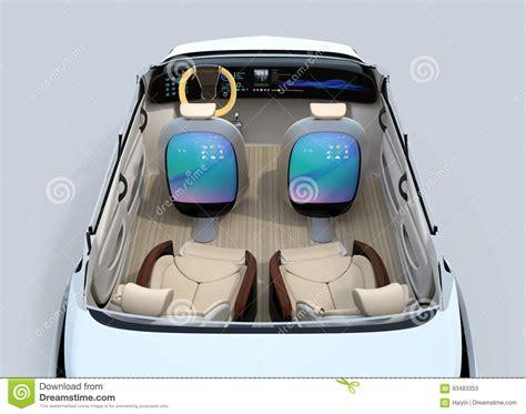 Rear View Of Self-driving Car Cutaway Image Stock