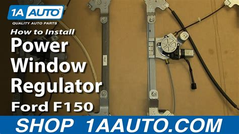 replace rear power window regulator   ford