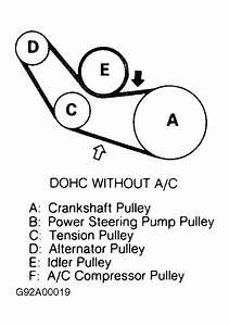 1991 Dodge Stealth Serpentine Belt Routing And Timing Belt