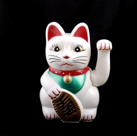 chat prosperite japonais maneki neko blanc chat porte bonheur chat japonais maneki neko