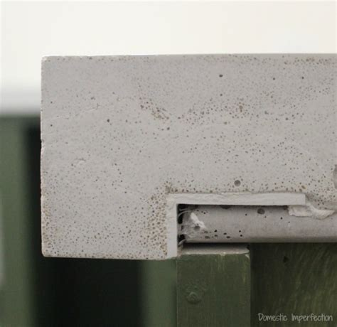 concrete countertop forms diy concrete countertops part ii the pour domestic