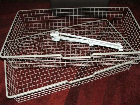 ikea metal drawers 2 x ikea komplement wire drawers baskets for pax