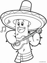 Coloring Cinco Mayo Sombrero Printable Sheet Cool2bkids Sheets Mexico Printables Fiesta Line Drawings Mexican Getdrawings Getcolorings Decorations Holiday sketch template