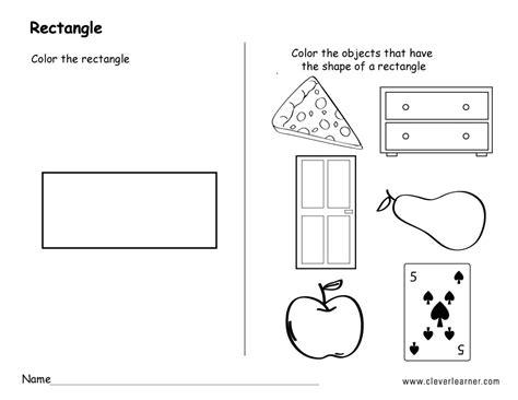 preschool rectangle activities rectangle shape activity sheets for school children 675