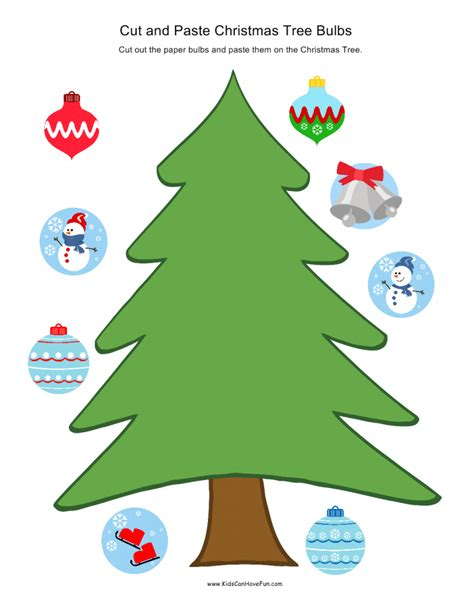 christmas cut  paste holiday worksheet activities