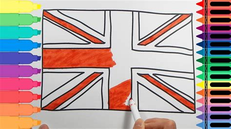 How to Draw the British Flag - Drawings for kids UK Flag ...