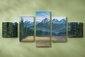 rocky mountain canvas wall art set of 5 With what kind of paint to use on kitchen cabinets for large forest canvas wall art