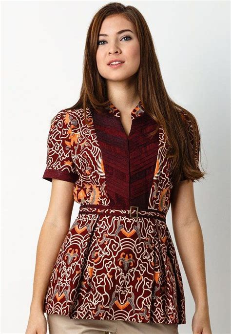 contoh baju batik santai wanita model baju wanita