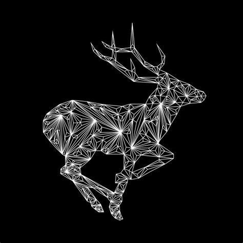 diamond deer  nick vlow illustration animal