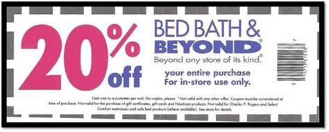 Bed Bath And Beyond 20 Percent Coupon by Bed Bath And Beyond Coupon 20 Printable Codes