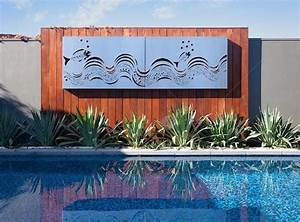 make your outdoor wall art ideas your neighbours envy With what kind of paint to use on kitchen cabinets for metal tropical wall art