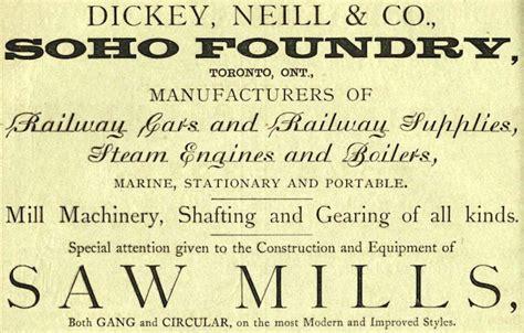 dickey neill  soho foundry history vintagemachineryorg