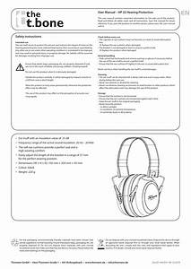 The T Bone Hp 22 Hearing Protection Quick Start Guide