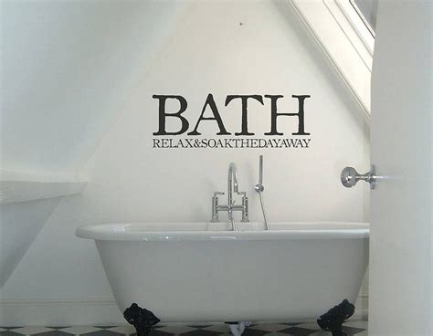 bath sign vinyl sticker contemporary wall stickers