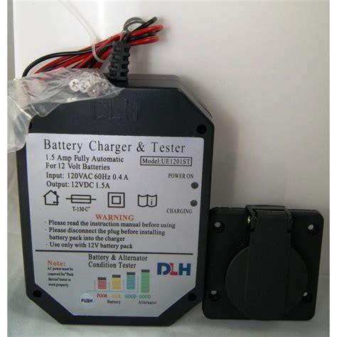 battery charger 12 volt quot built in quot trailer solutions pj trailer car hauler dump flat bed