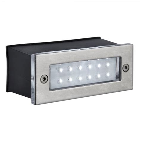 searchlight 2265ss led recessed outdoor wall light