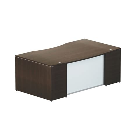 modesty panel for desk chiarezza 72 quot bow front desk with modesty panel sku