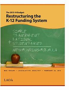 Restructuring k12 funding document for K 12 documents