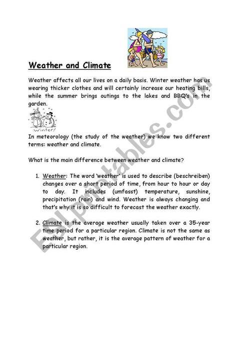 weather  climate esl worksheet  jayanar