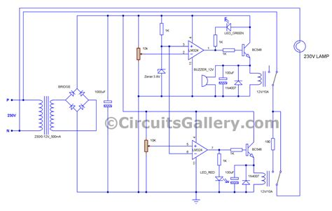 Voltage Stabilizer Circuit Diagram With Low
