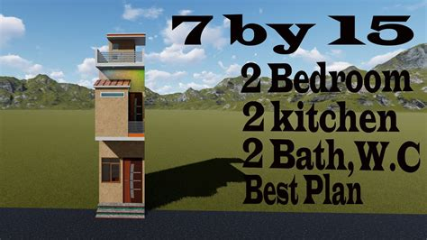 7 by 15 feet modern home design # 7 by 15 best house plan