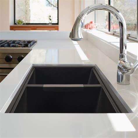201 vier de granite cuves jumelles noir plomberie artika