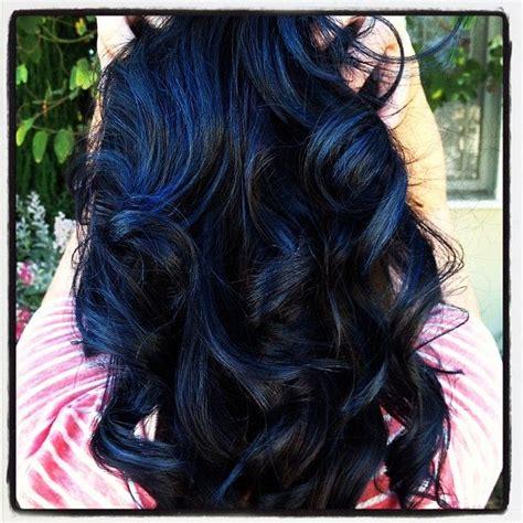 Blue Highlights Hair Color Ideas Hairstylo