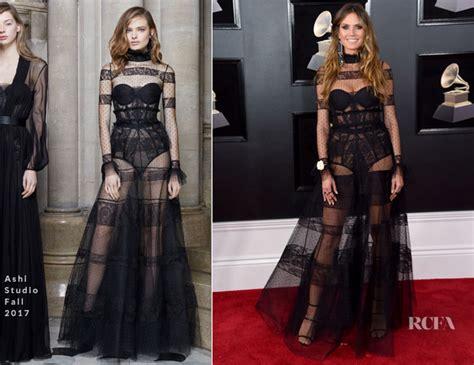 Heidi Klum Ashi Studio Grammy Awards Red