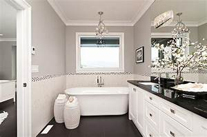 black and white bathrooms design ideas decor and accessories With kitchen colors with white cabinets with how do i get an uber sticker