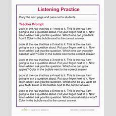 Listening Quiz  Worksheet Educationcom
