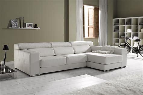 salon canapé blanc salon moderne encuir