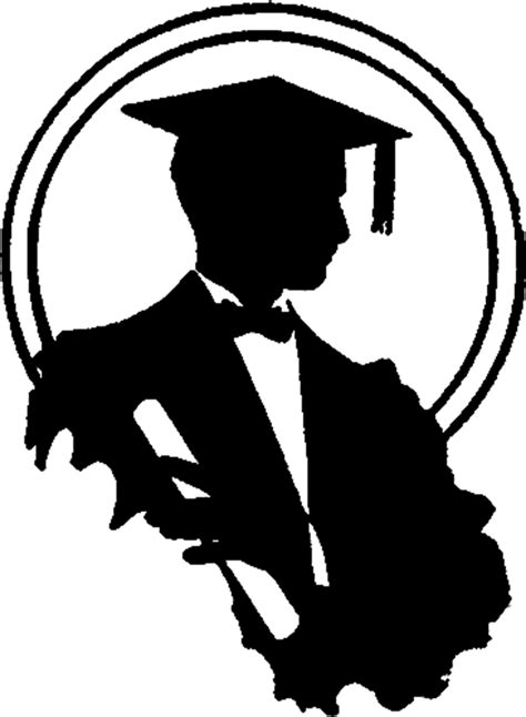 graduation silhouette image young man  graphics fairy