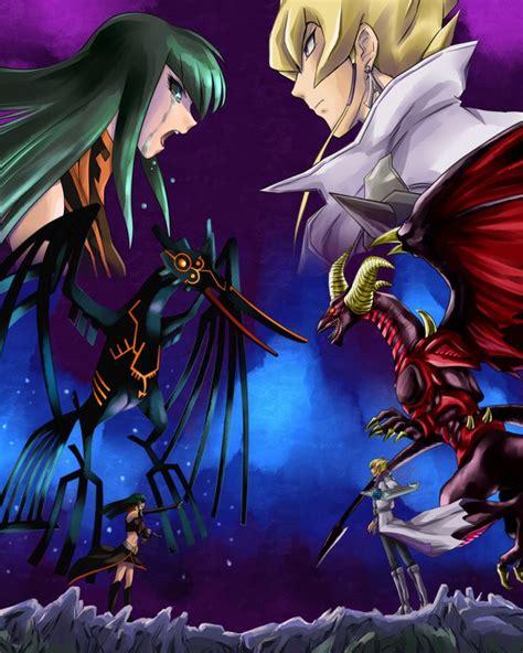 yu gi oh jack carly 5d atlas carmine dragon yugioh 5ds archfiend earthbound anime immortal fanart dark signer fortune ashi