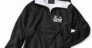 kappa delta kd sorority charles river by With greek letter rain jacket