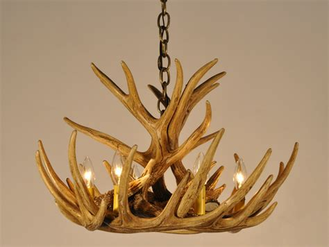 antler chandelier w9c faux antlers rustic by theshabbyantler