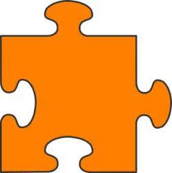 Orange Puzzle Piece Clip Art