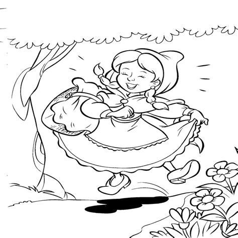 Caperucita Roja Para Colorear Pintar E Imprimir