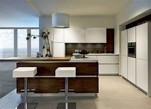 cuisine moderne noyer With cuisine en noyer et blanc