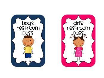 Bathroom Pass Ideas Middle School by Best 25 Restroom Pass Ideas On Classroom